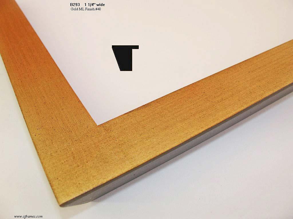 F40- Gold ML Finish #40: Metal Leaf Finish, Yellow Clay, Steel Wood Rub, American Wash.