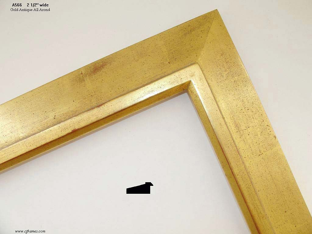 F01a- Gold Antique: Pictured On A Frame That Is Not Carved.