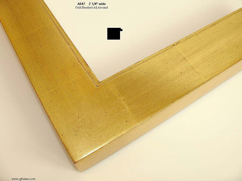 F08a- Gold Brushed: 22k Gold, Brushed Finish Over Red Clay.