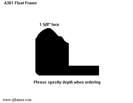 "1 5/8"" face <span class=""floaterPlease"">PLEASE SPECIFY DEPTH WHEN ORDERING</span>"